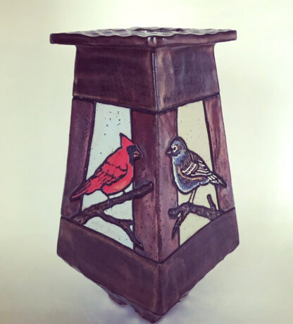 4 Sided Bird Vase