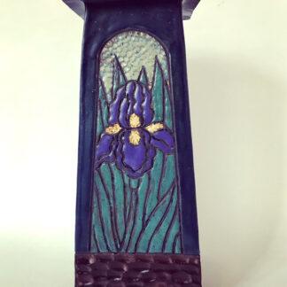 4 Sided Iris Vase