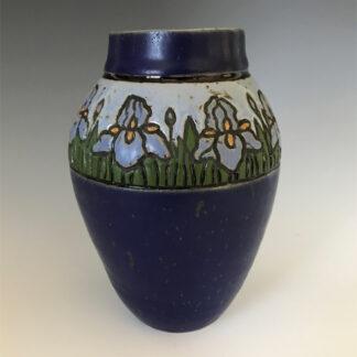 Blue Iris Vase