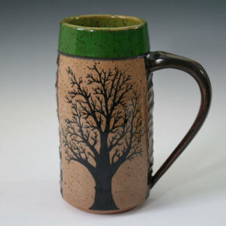 Green Tree Mug; stoneware cone 6, $58