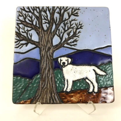 White Dog Tile
